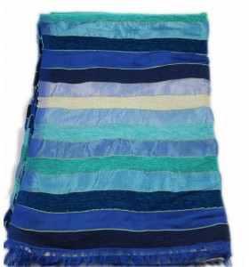 Couverture en sabra turquoise bleu foncé 2x3m