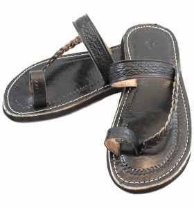 Chemch Sandals made of Black Leather