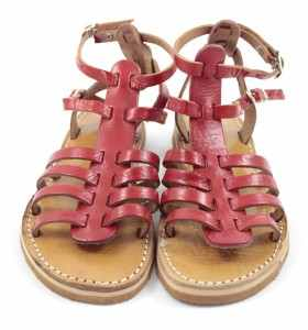 BSIM Sandals made of Red Leather