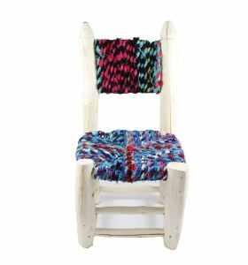 Petite chaise boucherouite boucharouette Bader