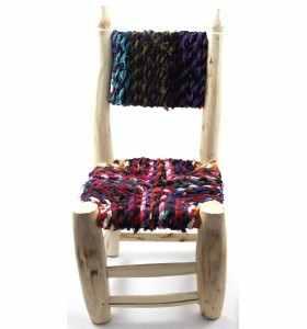 Petite chaise boucherouite boucharouette Chamae
