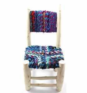 Petite chaise boucherouite boucharouette Ilili