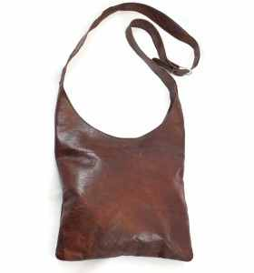 Brown Leather Bag by Hind