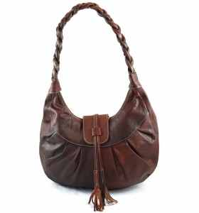 Brown Leather Bag by Aïssa